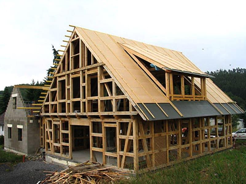 дома из деревянных материалов