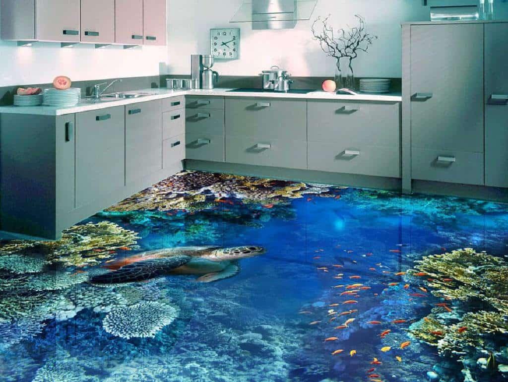 Декоративные наливные полы 3D