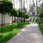 Благоустройство садовой территории возле дома